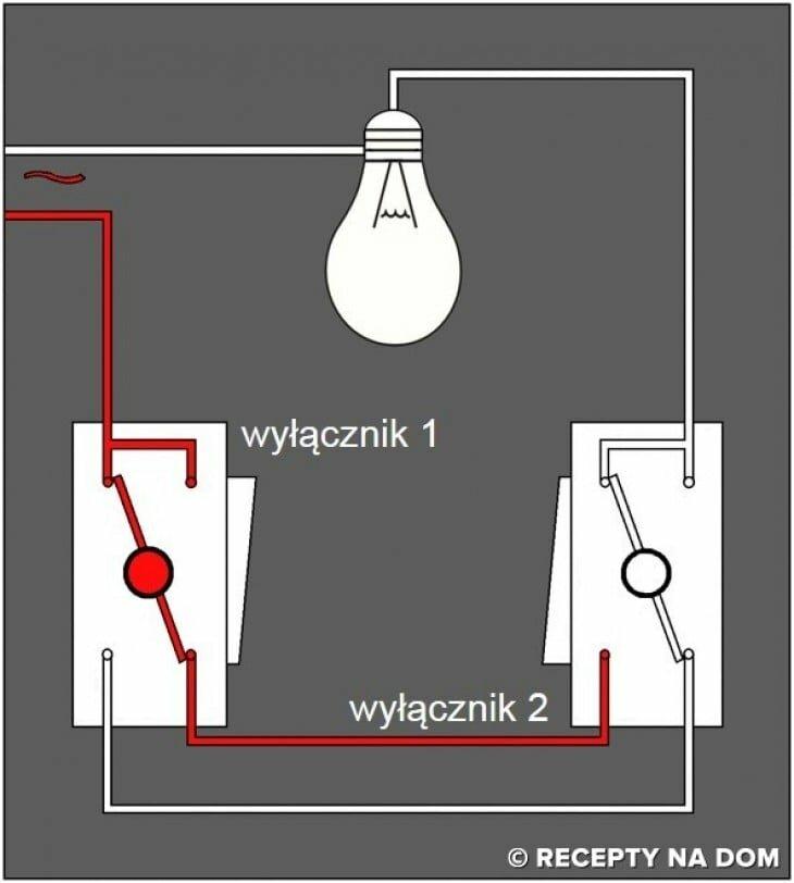 Podłącz dwa światła do jednego przełącznika